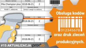 Printing of production orders