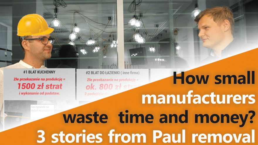 How small manufactures related to interior finishing industry waste time and money?