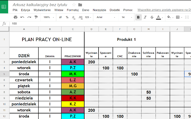 Production-planning-daily-in-Excel